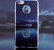 leer Monat Landschaft entworfen und hergestellt transparenten TPU-Materials Telefonkasten für iphone 6 Plus