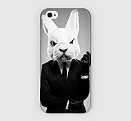Rabbit Head Suit Pattern PC phone Case Back Cover for iPhone 6 Case