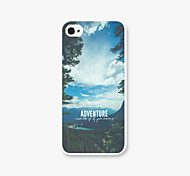 The Blue Sky and White Clouds Pattern Pc Phone Case Back Cover Case for iPhone5/5