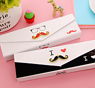 Dear Mr. Mustache Paper Retro Carton Pen Holders & Cases