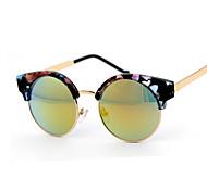 Sunglasses Women's Fashion Round White / Pink / Red / Multi-Color / Leopard Sunglasses Full-Rim