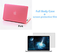 qualidade superior de cor sólida de corpo inteiro caso fosco e filme protetive tela para macbook retina 15,4 polegadas (cores sortidas)