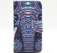 Elefantmuster der Innen gemalt Karten Fall für Samsung Galaxy Note 4