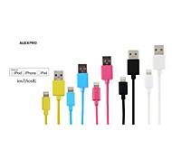 cores sortidas maçã mfi certificada relâmpago para cabo plano carregador de sincronização de dados USB para iPhone 6 / 6plus / 5s / 5 /