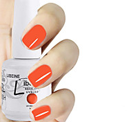 LIBEINE 1pc Soak Off 15 ML UV Gel Nail Polish Color Gel Polish 020# Red-Orange