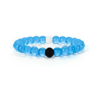 Unisex Blue and Clear Silicon Bracelet