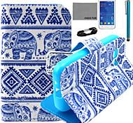 coco fun® blu modello elefante pu custodia in pelle con la pellicola e lo stilo per la galassia giovane 2 G130