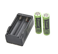 Power Battery Charger for  18650 Rechargeable Li- ion Battery(Included 2x5200mAh 4.2V)