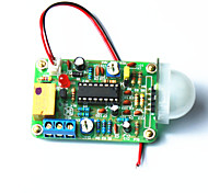 Infrared Human Pyroelectric Sensor Switch Module w/ Distance Adjustable - Green