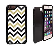 or blanc noir à rayures 2 en 1 armure hybride complet du corps à double couche choc protecteur mince affaire pour iPhone6