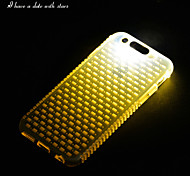 New TPU LED Reminder Flash Transparent Back Cover Case for iPhone 6 (Assorted color)
