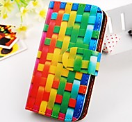 Weaving Around Figure Wallet Stand PU Leather Case For Samsung Galaxy S2 SII I9100