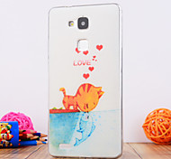 The Cat Design TPU Soft Case Cover for Huawei Mate 7