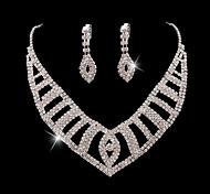 Z&X® Alloy Fashion Elegant Rhinestone Jewelry Set Party/Wedding 1set(Including Necklaces/Earrings)