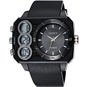 rond noir bande cadran de la montre de silicone japon mode de mouvement montre de sport de plongée montre des hommes (couleurs assorties)