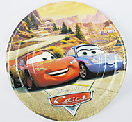 caçoa a festa de aniversário placas decorações carros de papel 7 '' partido fontes placas fontes do partido evento 12pcs / lot