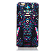 Beast Elephant Head Pattern TPU Soft Back Cover Case for iPhone 6
