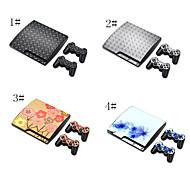 adesivo de pele decalque cobertura de vinil para PS3 Slim + 2 controladores