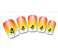 Sunflower Diamond Cartoon Finger Nail Stickers