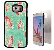bloem ontwerp aluminium koffer voor Samsung Galaxy s6