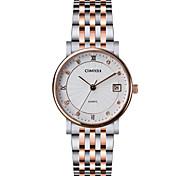Senhorita. aço COMTEX relógio relógio de quartzo s6194l-2-4