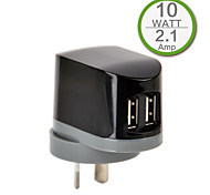 CE Certified Dual USB Wall Charger, AU/New Zealand Plug Plug,5V 2.1A output, for iPhone 5 iPhone 6/Plus, iPad Air/Mini/4