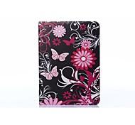 rosa Schmetterling PU-Leder Ganzkörper-ABS-Gehäuse mit Karde Halter für Samsung-Galaxie T530 / Tab 10.1 4