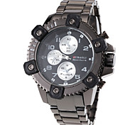 Men's Fashion Design Hard Case Steel Band Quartz Wrist Watch