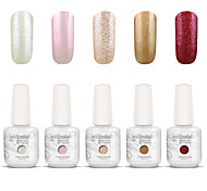 nail art gelpolish mergulhar off uv gel unha kit manicure gel cor polonês 5 cores definir s110
