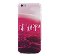 Red Cloud Pattern TPU Material Phone Case for iPhone 6