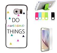 Sie tolle Sachen zu entwerfen harte Fall mit Displayschutzfolie und Ständer Halter für Samsung-Galaxie-S6