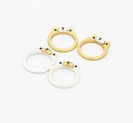 Fashion Cartoon Cartoon Bear Alloy Ring Band Rings