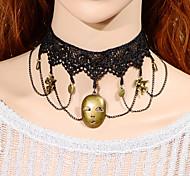 Vintage  Mask Homer Necklace