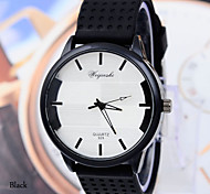 Men's Simple Design PU Fashion Quartz Watch
