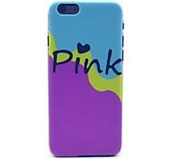 rosa blu rosa modello cassa della baia duro per iPhone 6