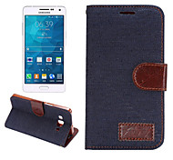 Luxury DenimPU Leather  Card Holder Wallet Flip Phone Holster Samsung Galaxy A5(Assorted Color)