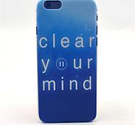 limpieza patrón mente cubierta de plástico duro para el iphone 6