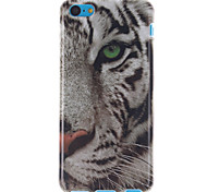 White Tiger Pattern TPU Soft Case for iPhone 5C