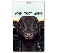 usb flash drive personalizado flash drive 32gb vaca design de cartão usb