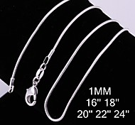 Necklace Chain Necklaces Jewelry Wedding / Party / Daily / Casual Fashion Silver Plated Silver 1pc Gift