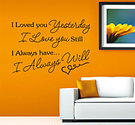 Romantic I Loved You Letters PVC Wall Sticker Wall Decals