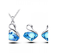 Z&X® Alloy Crystal Swan Jewelry Set Party/Daily 1set(Including Necklaces/Earrings)