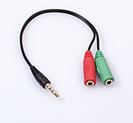 3.5mm Earphone Jack 1 Male to 2 Female Audio Splitter Connecter Adapter Extension Cable