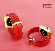 2015 Hot APPLE WATCH classic fashion leather strap button for iwatch durable soft leather strap watch wristband 38mm