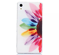 Sunflower Pattern TPU Phone Case For Sony Z1