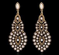 Pendiente Pendientes cortos / Pendientes colgantes Joyas 2 piezas Perla Artificial / Brillante / Chapado en Oro Mujer Plateado