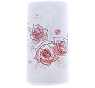 Rose Pattern TPU Hard Back Cover Case for LG G4