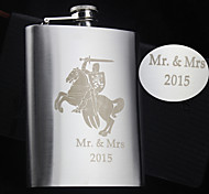 Personalized Gift 8oz Knight Design Stainless Steel Flask