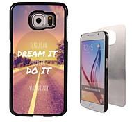 dromen en doen ontwerp aluminium koffer voor Samsung Galaxy s6