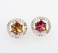 New Arrived For 2015 Free Shipping Beautifully Colorful Cube Shaped Crystal Earring For Women